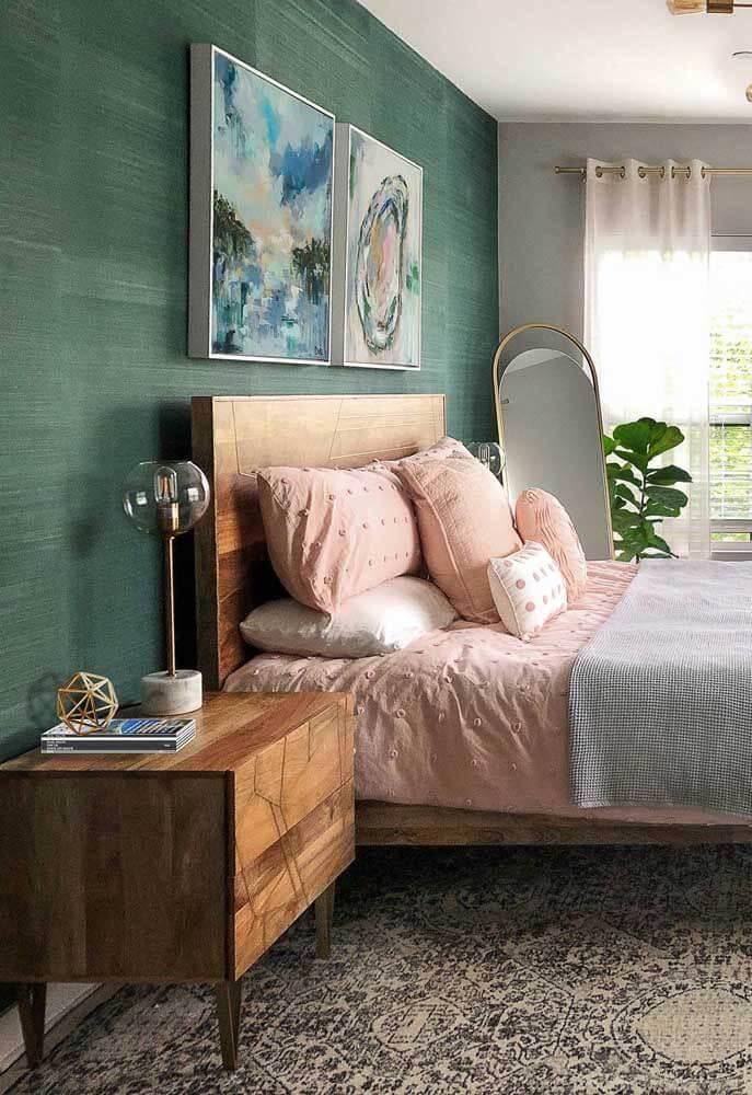 Casa organizada com cama arrumada