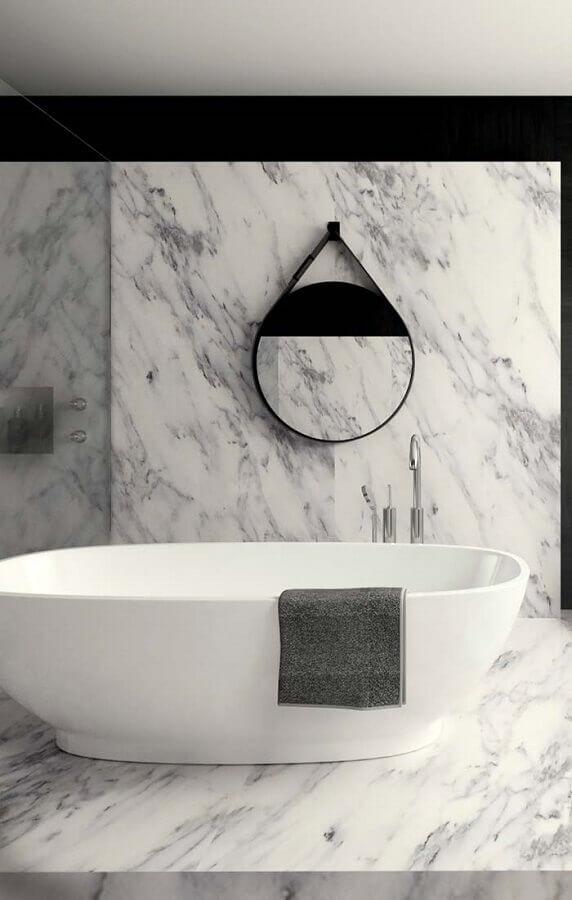 Cores de mármore branco para banheiro moderno