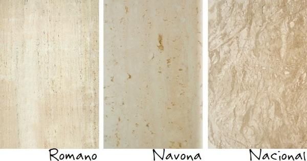 Cores de mármore travertino
