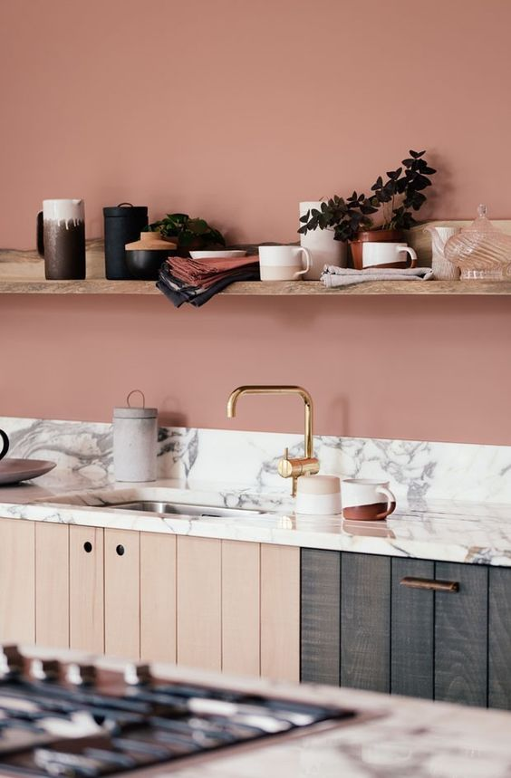 Cores de mármore branco e rose