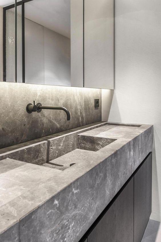 Cores de mármore cinza