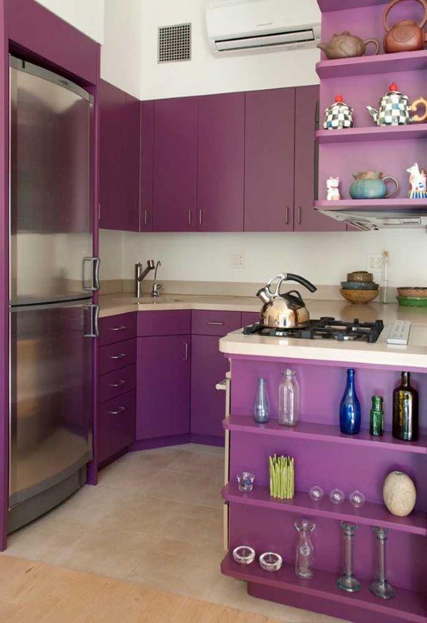 Cozinha em tons de roxo