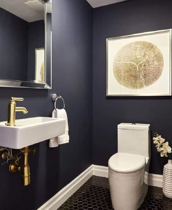 Decoração de banheiro preto simples Foto Fashion Bubbles