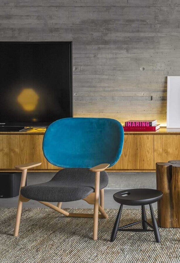 decoração de sala com poltrona colorida moderna Foto Futurist Architecture