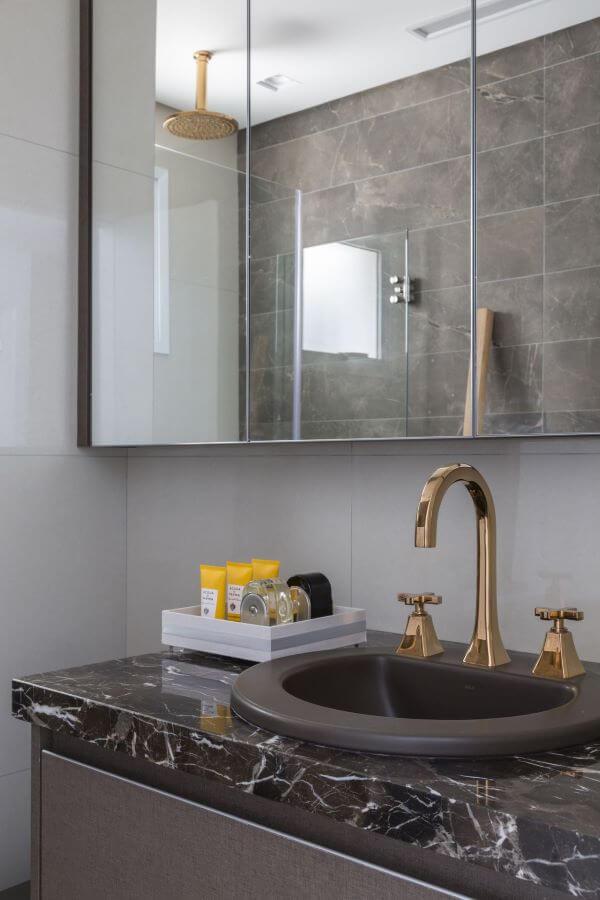 Cores de mármore para banheiro de luxo