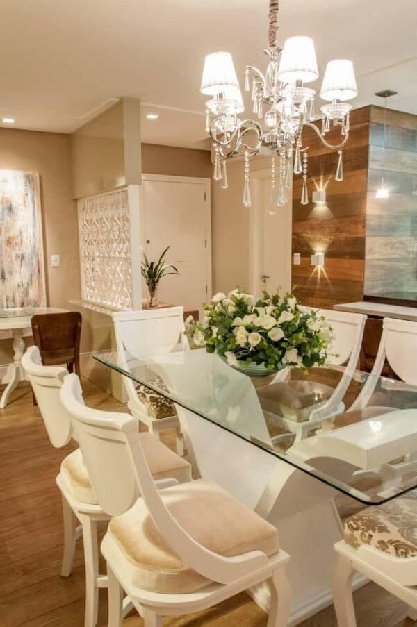 Base para mesa de jantar de vidro