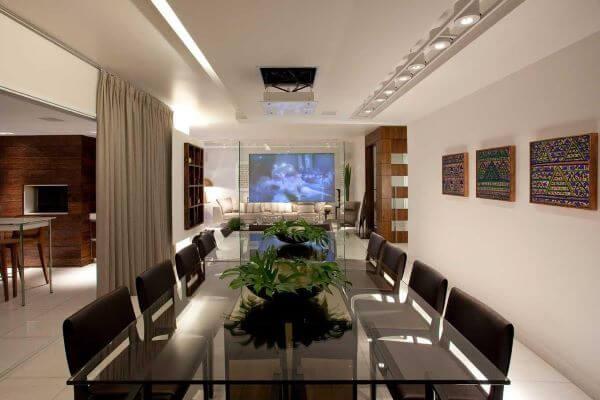 Base para mesa de jantar de vidro retangular