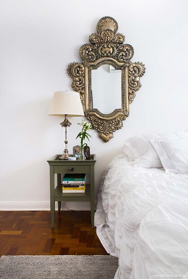 espelho de parede com moldura vintage bronze Foto Pinterest