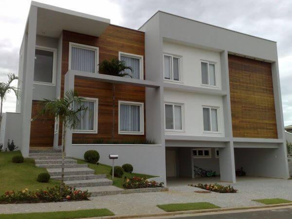 Revestimento para fachada moderna de madeira