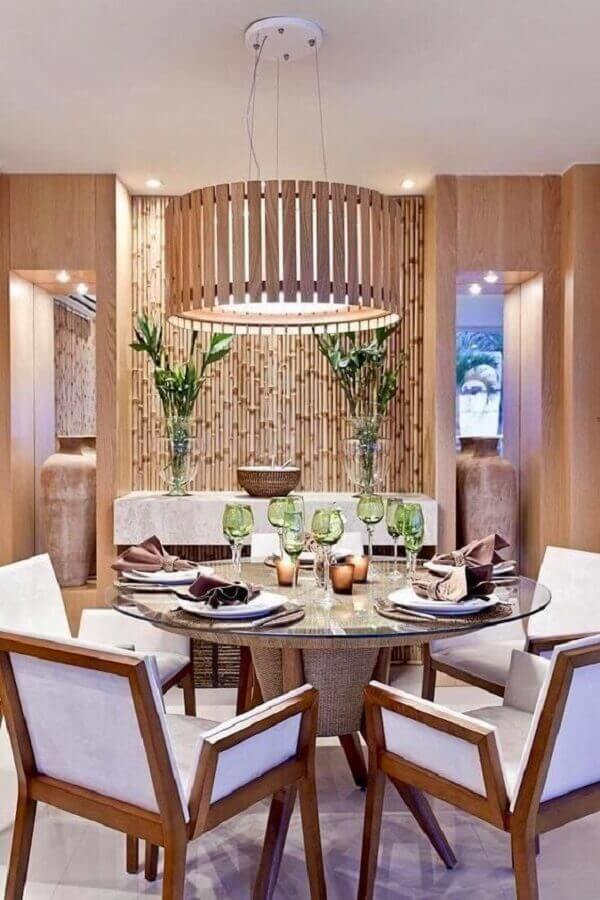 lustre pendente para sala de jantar com mesa redonda Foto Pinterest