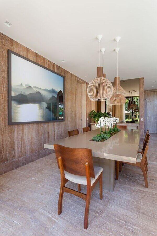 lustre pendente para sala de jantar moderna Foto Constance Zahn