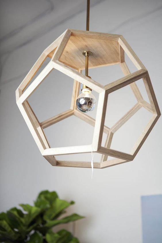 Lustre rústico madeira criativo