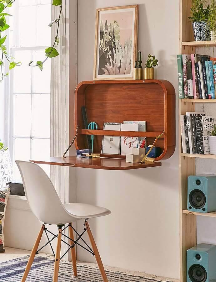 mesa dobrável para home office pequeno Foto Pinterest