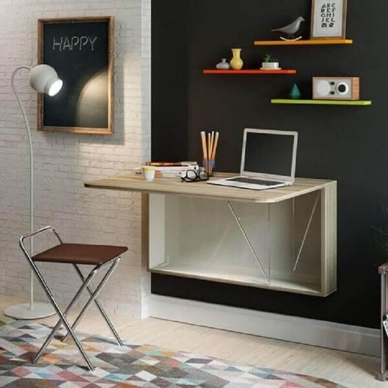 mesa dobrável para home office simples Foto Pinterest