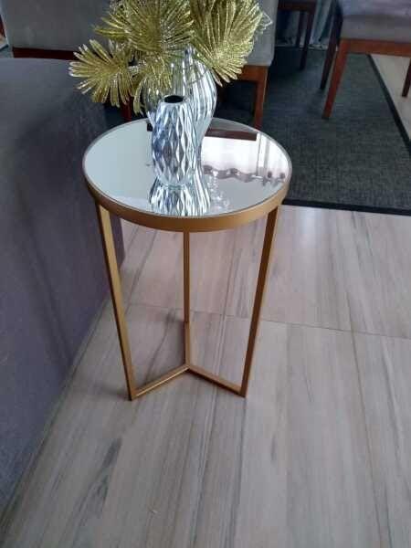 Mesa espelhada redonda