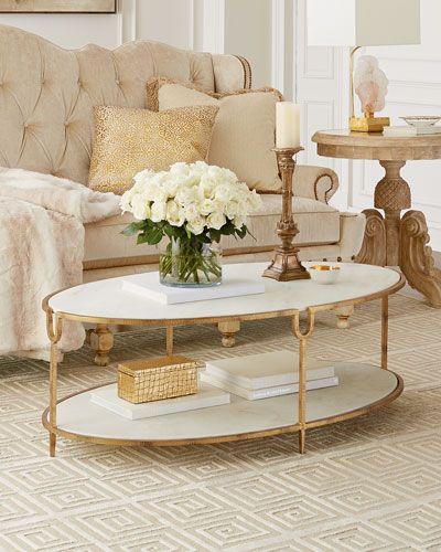 Mesa de centro oval clássica
