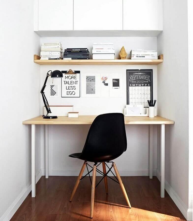 mesa para home office pequeno e simples Foto Lolafá