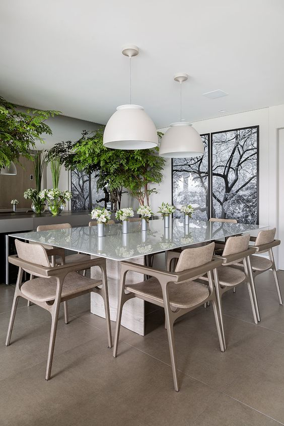 Mesa para varanda gourmet de apartamento grande