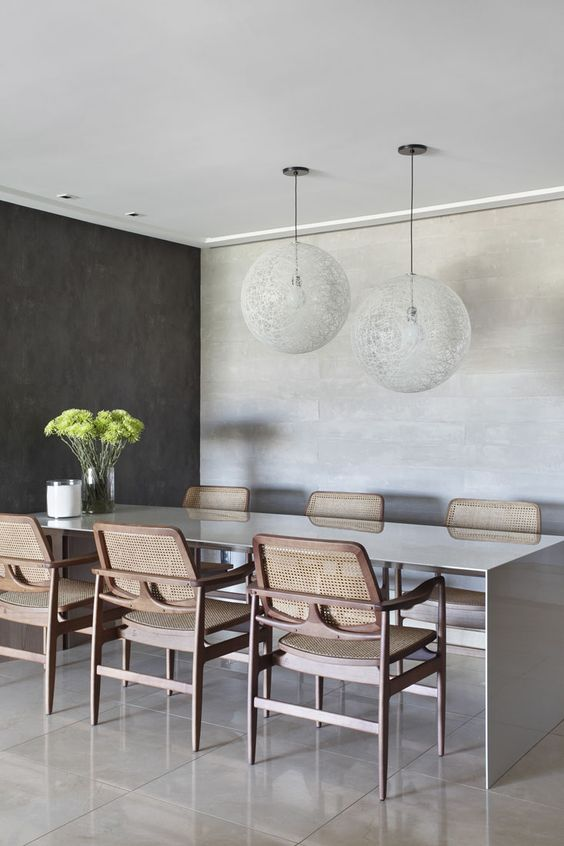Mesa para varanda gourmet retangular