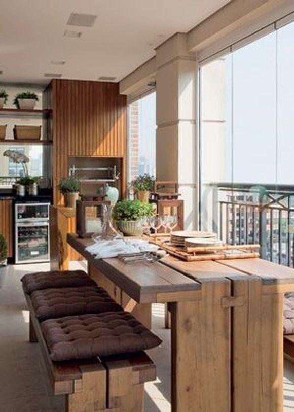 Mesa para varanda gourmet rustica