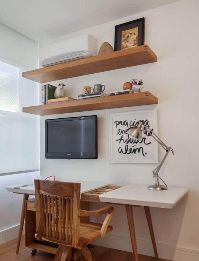 modelo de mesa para home office com pés palito Foto Pinterest