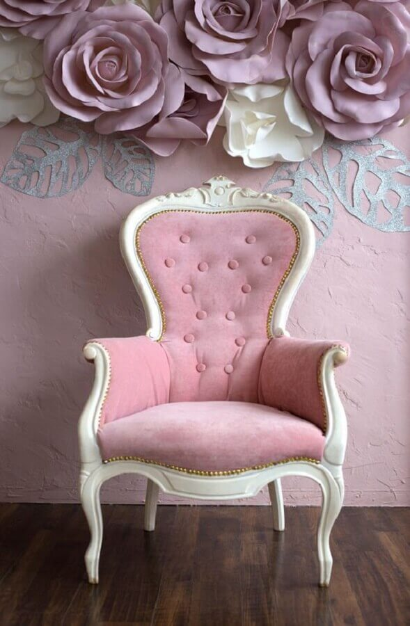 modelo de poltrona rosa provençal Foto Kenay Home