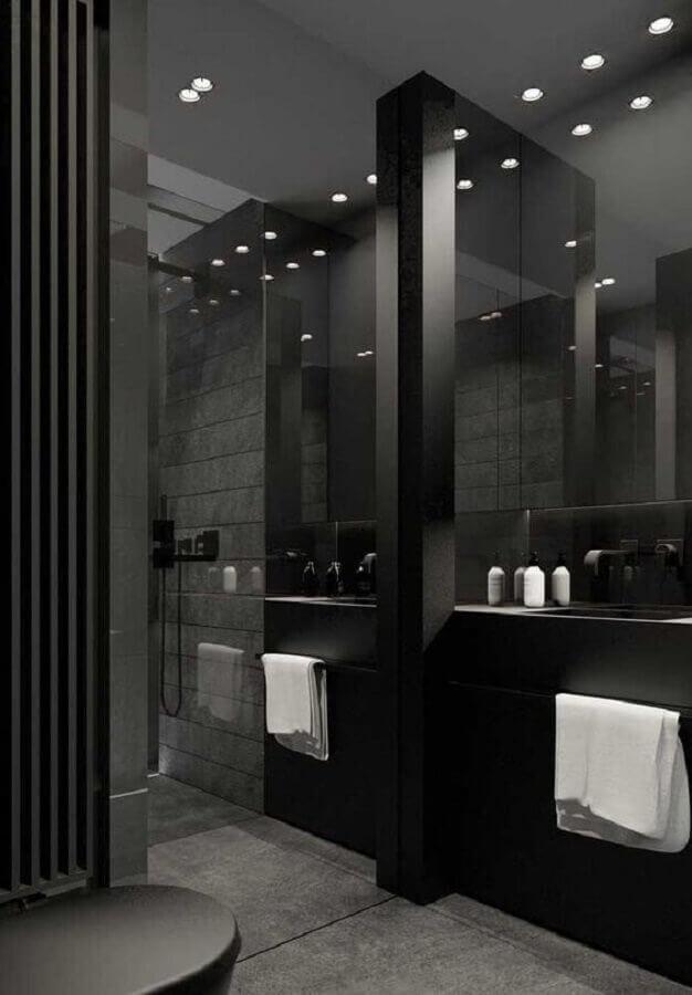 modelos de banheiro preto moderno  Foto Futurist Architecture