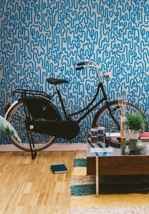 papel de parede colorido azul Foto HAYinstyle