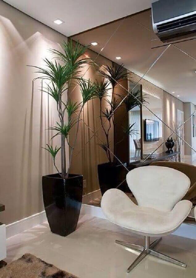 parede de espelho para hall de entrada sofisticado  Foto Pinterest