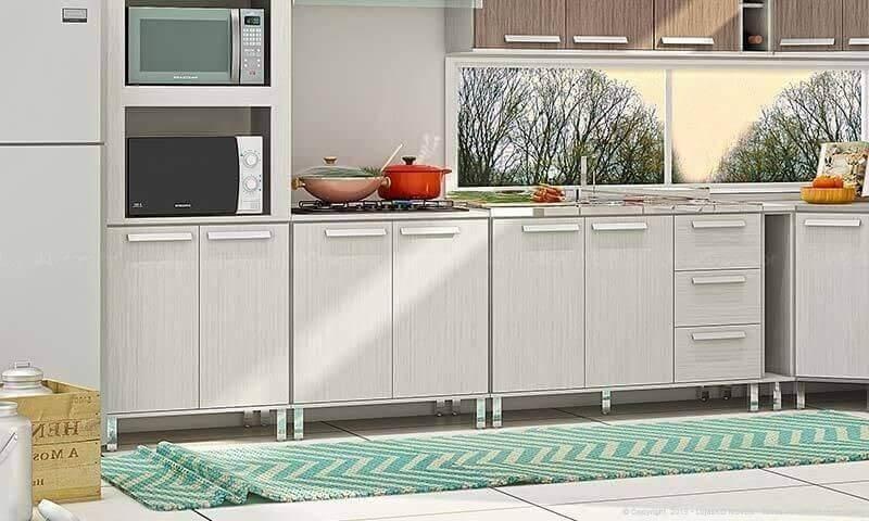 Passadeira para cozinha com estampa ziguezague