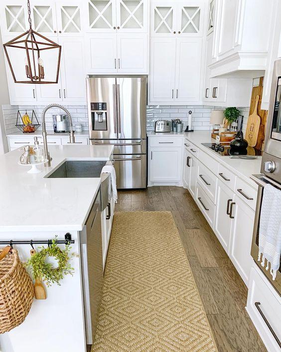 Passadeira para cozinha de sisal