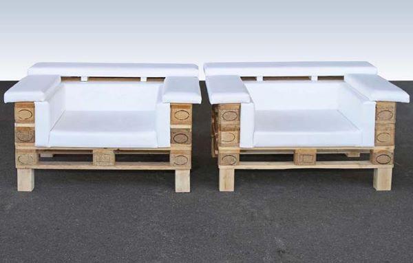 Poltrona de pallet branco