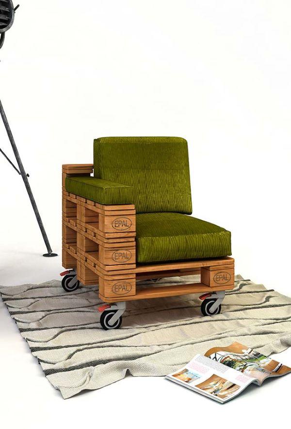 Poltrona para varanda com rodinhas