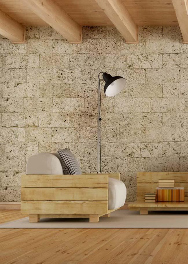 Poltrona de pallet para sala de estar moderna