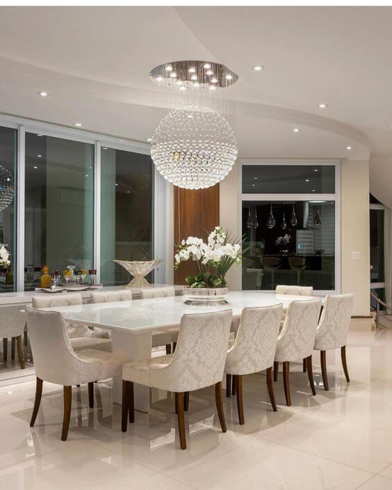 Poltrona para mesa de jantar clássica