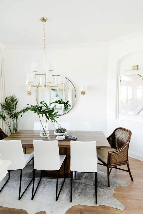 Poltrona para mesa de jantar de madeira