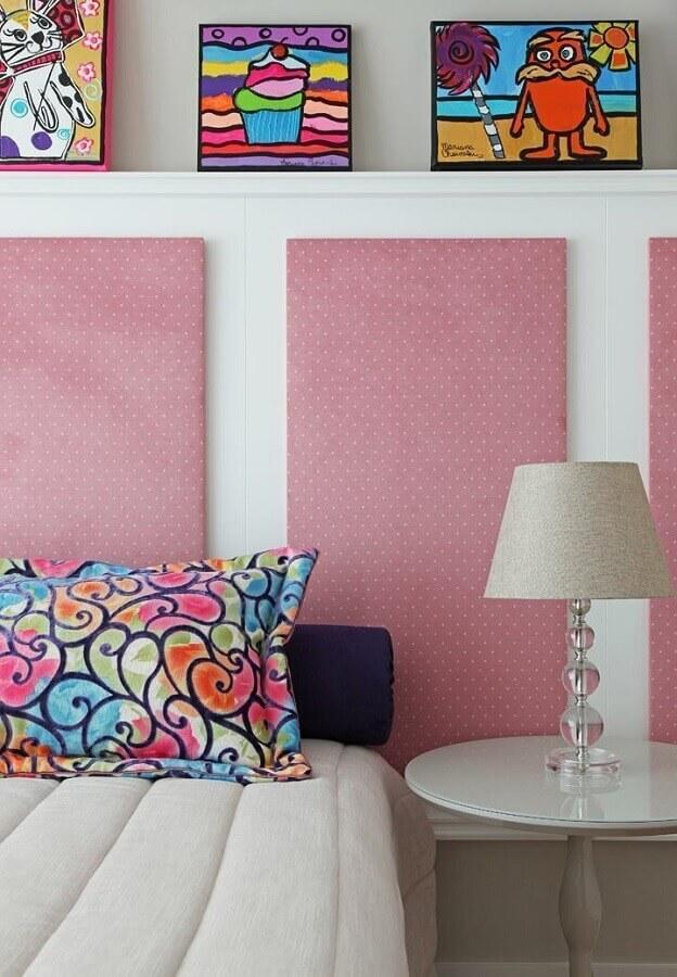 quadros coloridos para decoração de quarto feminino  Foto Otimizi