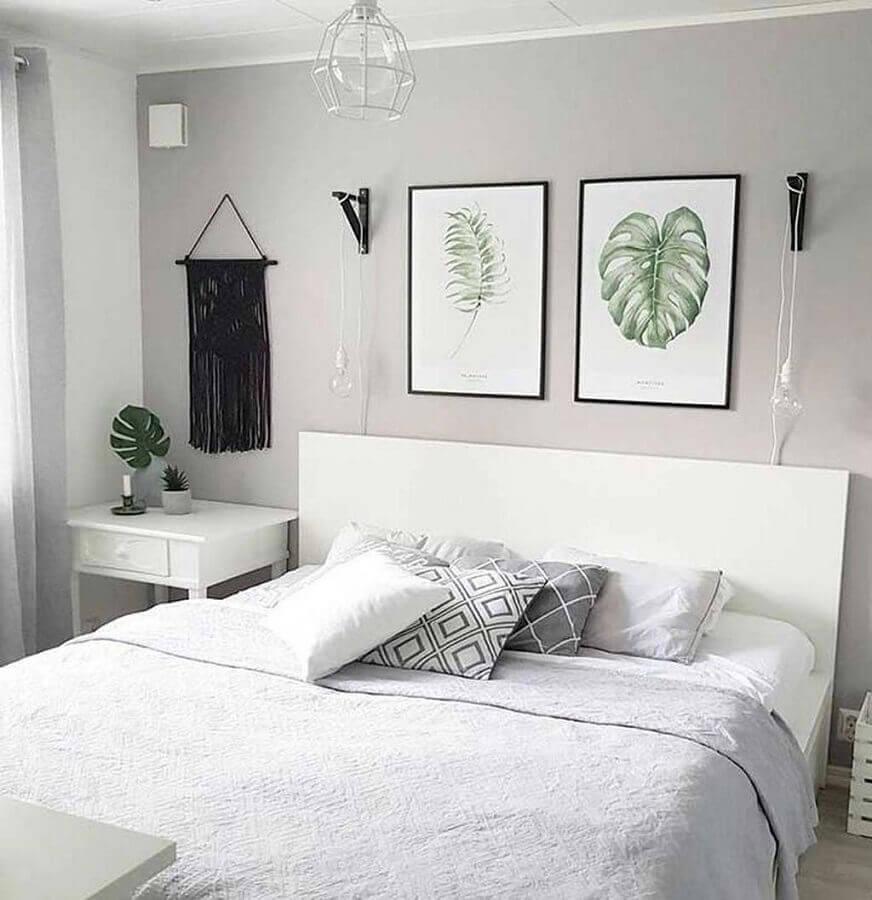 quadros para quarto feminino Tumblr cinza e branco Foto Pinterest