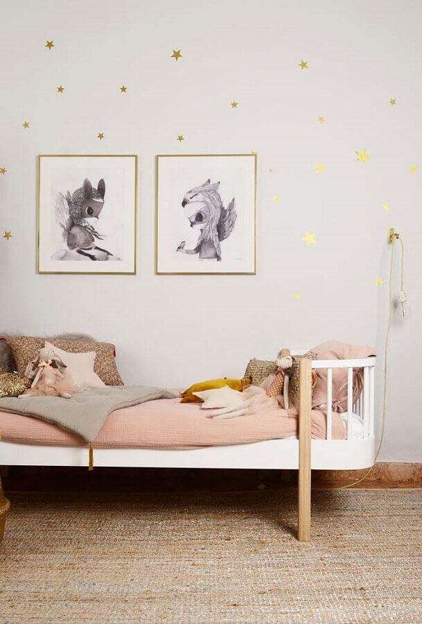 quadros para quarto infantil feminino minimalista  Foto DecoPeques