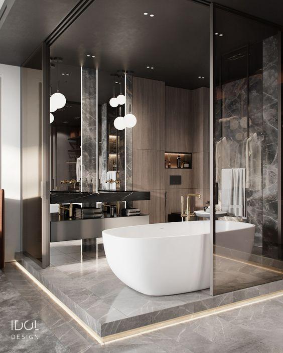 Quarto com banheiro conjugado