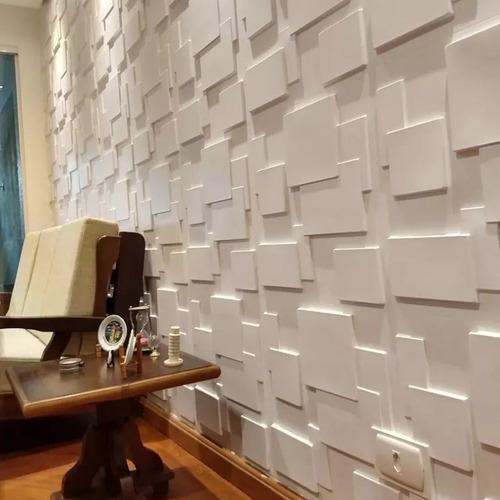 Revestimento 3D para parede de sala moderna