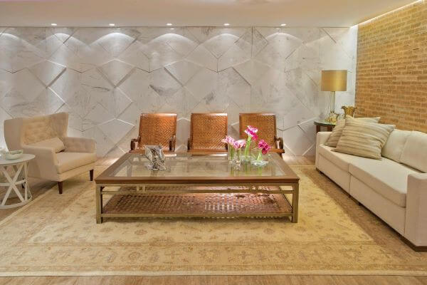 Revestimento 3D para sala clean