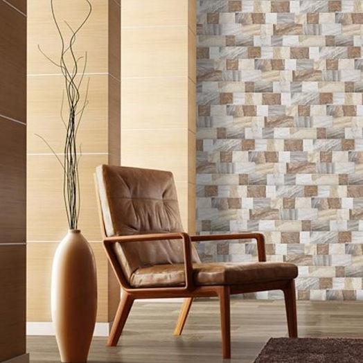 Sala de estar com revestimento 3D