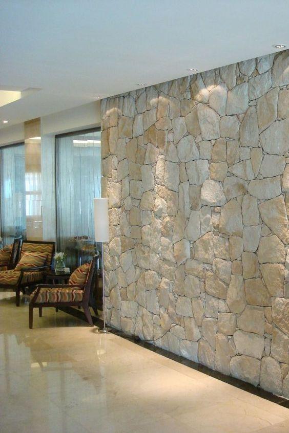 Revestimento 3D para sala de estar clássica