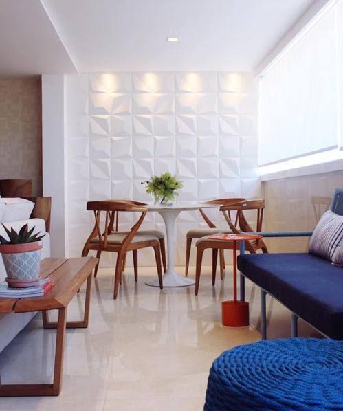 Revestimento 3D para sala
