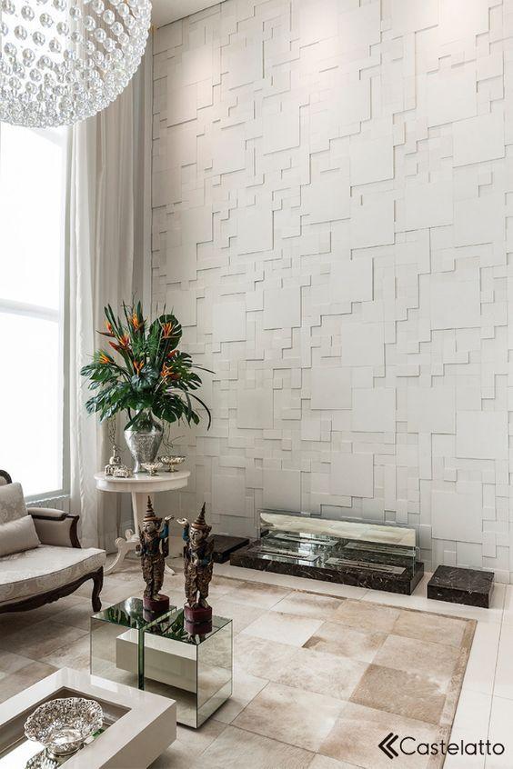 Revestimento 3D para sala moderna