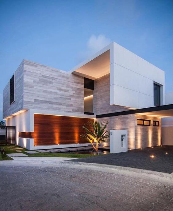 Revestimento para fachada de casa grande