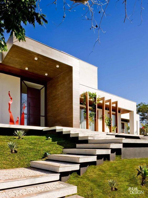 Revestimento para fachada moderna