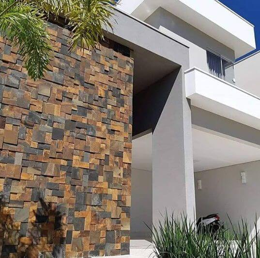 Revestimento para fachada de muro