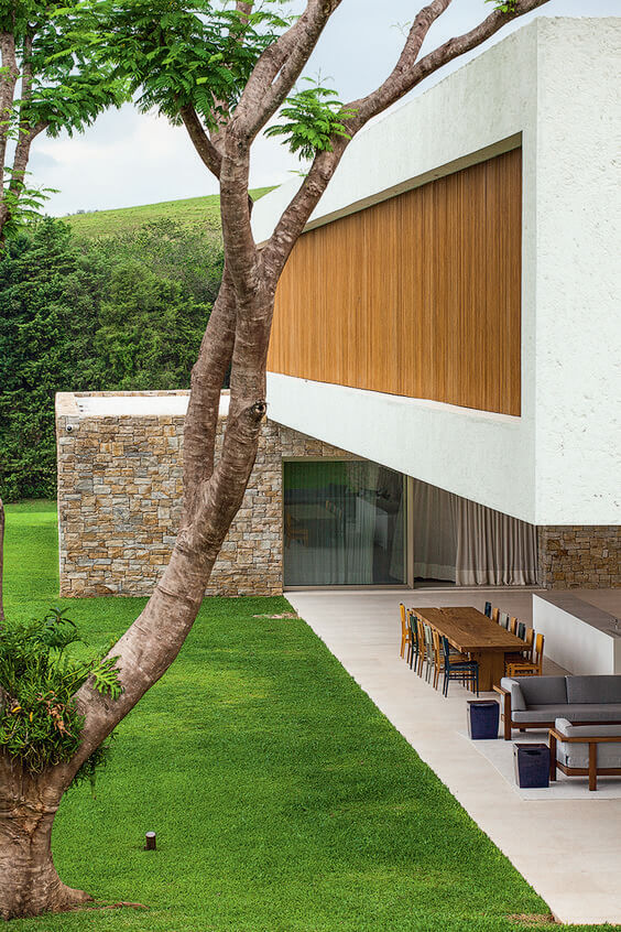 Revestimento para fachada de casa  moderna